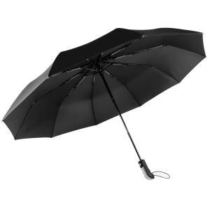 FEZZ 折りたたみ傘 自動開閉 10本骨 折り畳み傘 テフロン撥水加工 超耐風性 高密度 大きい ...