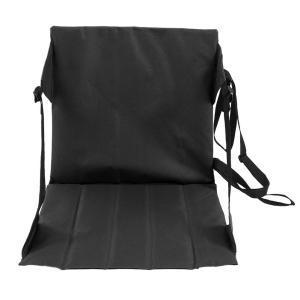 座布団 ピクニッククッション 折りたたみ マット 携帯用 防水 軽量 多機能 調節可能 収納ポケット(黒)