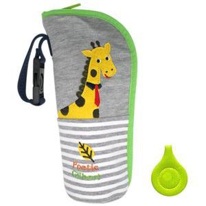哺乳瓶ホルダー ペットボトルホルダー ベビー キッズ アニマル リフレクター付き (キリン)