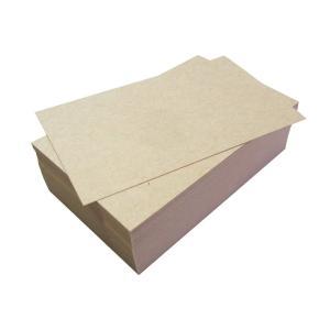 メッセージカード 名刺サイズ 厚手クラフト紙 無地 100枚 用紙色:薄茶色 PP製箱入|smilehometen