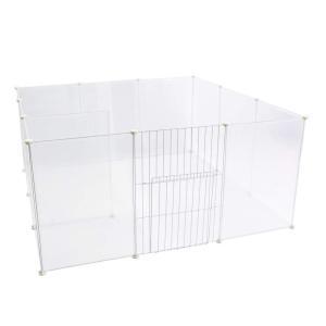 VENTOTA フリースタイル 透けて見える ペット用フェンス 【Clear Fence】選べる3サイズ ドア付 軍手付 35x35cm 50x50c|smilehometen