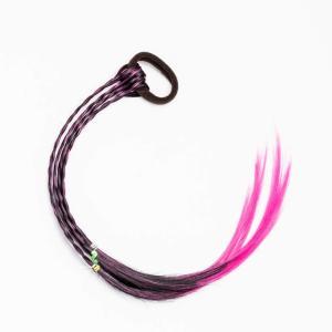 三つ編み 編み込み メッシュ エクステ エクステンション ヘアエクステ カラフル ウィッグ キッズ 髪 髪の毛 付け髪 (ピンク)|smilehometen