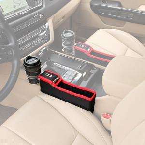 KMMOTORS コインの収納もできる車内収納ポケット コインサイドポケット(プライウッド/ホルダー有/助手席/レッド)|smilehometen