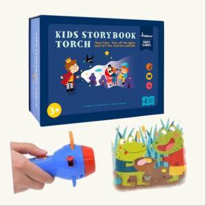 寝かしつけ おもちゃ プロジェクター Mideer ミディア キッズ ストーリーブック トーチ 知育玩具