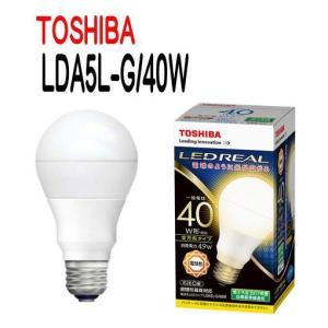 LED電球・電球形 E26口金 一般電球形 全方向タイプ 白熱電球40W形相当 電球色 TOSHIBA(東芝ライテック) LDA5L-G/40W 【LDA5LG40W】|smilelight