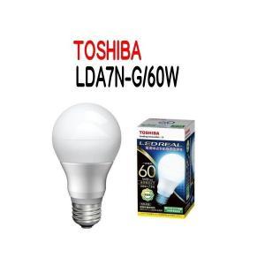【10個セット・送料無料】LED電球 TOSHIBA(東芝ライテック) E26口金 一般電球形 全方向タイプ 白熱電球60W形相当 昼白色  LDA7N-G/60W 【LDA7NG60W】|smilelight