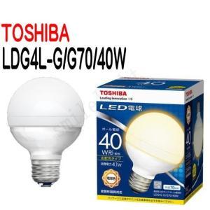 LED電球 TOSHIBA(東芝ライテック) E26口金 電球色 ボール電球形40W形相当 LDG4L-G/G70/40W 【LDG4LGG7040W】|smilelight
