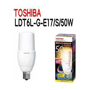 TOSHIBA(東芝ライテック) LED電球 E17口金 T形 全方向タイプ 白熱電球50W形相当 電球色  LDT6L-G-E17/S/50W 【LDT6LGE17S50W】