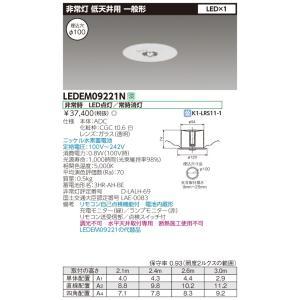 【送料無料】東芝ライテック 低天井用埋込LED非常灯専用形 LEDEM09221N (リモコン別売り)