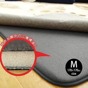 ふかピタ 170×170  Msize ラグ専用下敷き 防音 絨毯 じゅうたん カーペット|smilemart-jp
