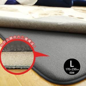 ふかピタ 170×230 Lsize  ラグ専用下敷き 防音 絨毯 じゅうたん カーペット|smilemart-jp