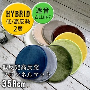 低反発高反発フランネルラグマット LM101   35Rcm 絨毯 じゅうたん カーペット|smilemart-jp