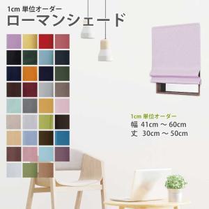 シェード カーテン ローマンシェード 小窓 カーテン 仕切り 目隠し おしゃれ カーテン 幅41〜60cm 丈30〜50cm