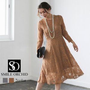 ワンピース パーティードレス ドレス レース 結婚式 yimo16658|smileorchid