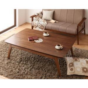 天然木ウォールナット材 北欧風こたつテーブル new! Lumikki ルミッキ 長方形 120×80  ウォールナットブラウン smilepocket