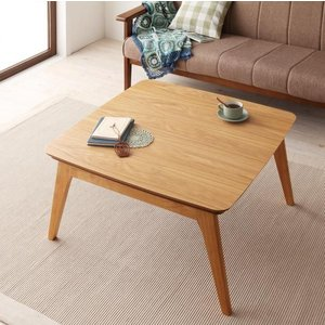 天然木オーク材 北欧風こたつテーブル Trukko トルッコ 正方形 75×75  オークナチュラル smilepocket