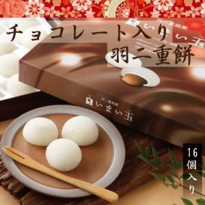 羽二重餅 チョコレート入り 【白いまい玉 16個入り】 宅配便|smileshoutengai