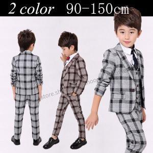 【製品仕様】 ■商品名 :フォーマル男の子スーツ ■カラー:ブラウン/グレー ■内容:5点セットジャ...