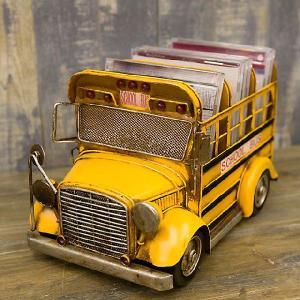 ブリキのおもちゃ ビンテージカー グッド オールド スクールバス CDボックス|smilevillage