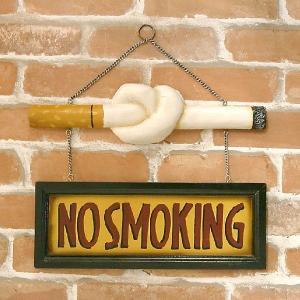 とってもお洒落な ノースモーキング サインプラッケ NO SMOKING SIGH Cigarette smilevillage