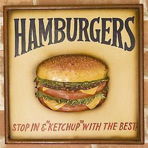 アンティークボード HUMMBURGER ハンバーガー smilevillage
