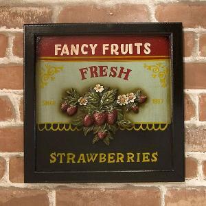 アンティークボード Strawberry ストロベリー smilevillage