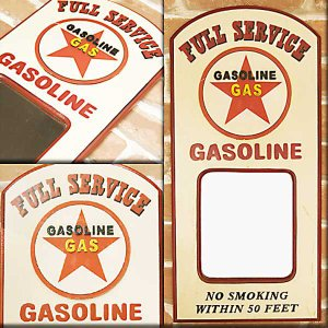 PUB SIGN MIRROR パブ サインミラー  ガソリン (GASOLINE) smilevillage