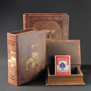 本型小物入れ BOOKBOX ブックボックス 3個セット アンティーク調収納箱 28230|smilevillage