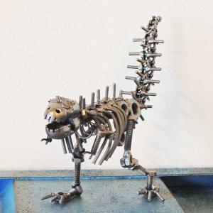 置物・オブジェ メタルフィギュア ティラノサウルス 29050 アイアン雑貨|smilevillage