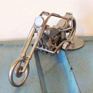 置物・オブジェ メタルフィギュア motor cycle アメリカンバイク 29093|smilevillage