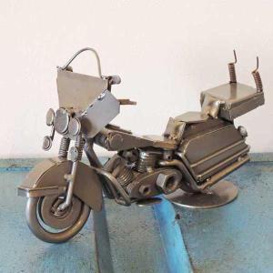 置物・オブジェ メタルフィギュア motor cycle ポリスバイク 29094|smilevillage