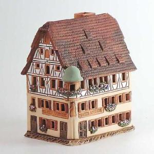 リトアニア製陶器 アロマキャンドルハウス(ドイツ・ローデンブルグの薬局)A233AR|smilevillage