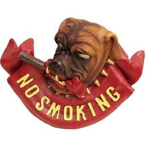 とってもお洒落な ノースモーキング サインプラッケ NO SMOKING SIGH DOG smilevillage
