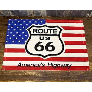 FLAG ITEM フラッグランチョンマット[USA ROUTE66]|smilevillage