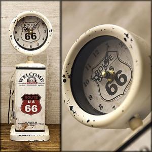 レトロ調 ROUTE66 ガスポンプ テーブルクロック ルート66 DC2084 smilevillage