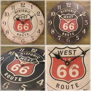 壁掛時計 レジェクション カフェ クロック ルート66|smilevillage