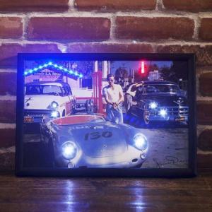 レトロ雑貨 ガレージ看板 LED ピクチャーフレーム 1522|smilevillage