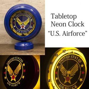 テーブルトップネオンクロック U.S. Airforce|smilevillage
