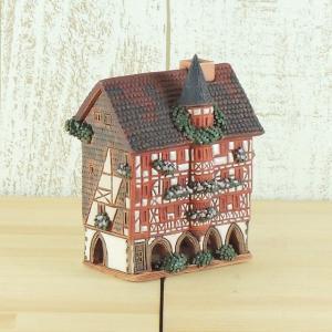 リトアニア製陶器 アロマキャンドルハウス(ドイツ・フルダ市のログハウス)R349|smilevillage