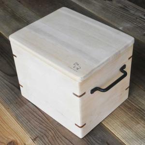 青森ひばの箱 虫カビを撃退 おいしさ保つ米びつ 5kg用|smilevillage