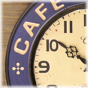 壁掛時計 レジェクション カフェ クロック カフェツアー ブルー|smilevillage|02