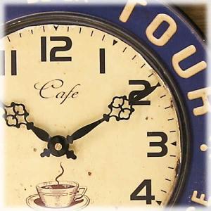 壁掛時計 レジェクション カフェ クロック カフェツアー ブルー|smilevillage|03