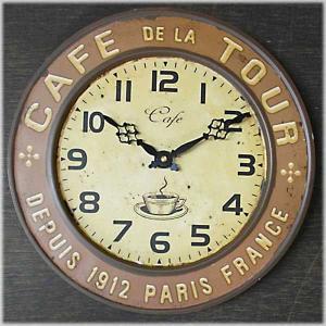 壁掛時計 レジェクション カフェ クロック カフェツアー ブラウン|smilevillage