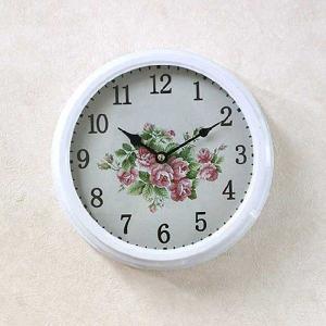 ローズ柄のボリュームのある壁掛け時計|smilevillage