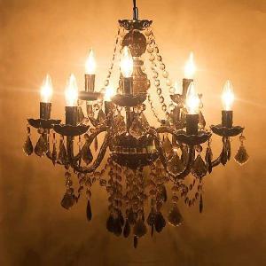 シャンデリア [Chateau シャトー] 9灯 ブラック|smilevillage