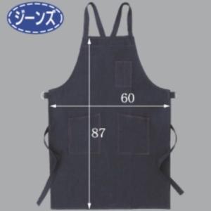 富士グローブ JNS-501デニム胸前掛ポケット付(10枚)・ジーンズ生地使用