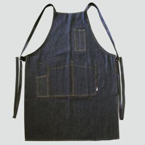 デニムエプロンタスキ紐タイプ1枚入×10枚セット・巾630mm×丈880mm