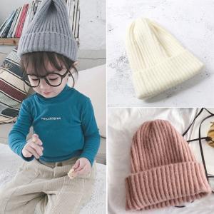 子供服 ニット帽 キッズ帽子 ねじり帽子 柔らかニット帽 ポイント消化 キャップ どんぐり帽子 かわいい 子ども 女の子 男の子 秋 冬 シンプル カラバリ