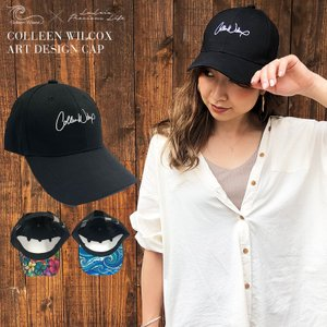 fb81957797f1f Colleen Wilcox CAP キャップ 帽子 花柄 無地 ロゴ お洒落 可愛い ビーチ 大人カジュアル 綿 コットン ラレイア laleia