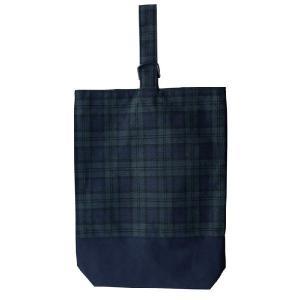SALE30%OFF 子供用 シューズバッグ シューズ袋 上履き入れ ブラックウォッチ ナイロン裏地付|smilish
